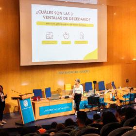 El equipo de Hablemos de Neurociencia y Decedario juntos en la Universidad de Almería